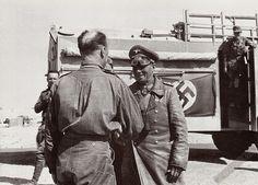 Rommel compliment  Oberstleutnant Freiherr von Wechmar (Kommandeur Aufklärungs-Abteilung 3  / 5.leichte-Division).