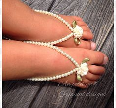 Baby barefoot sandals, baby girl , baptism , christening, baby shower gift , photo prop on Etsy, $17.95