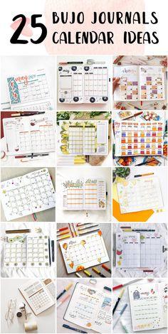 Minimalist Bullet Journal Monthly Calendar Design - Bullet Journals Ideas #bulletjournalfonts #bulletjournalsforbeginners #thebulletjournalmethod