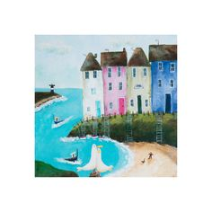 This gorgeous artwork was inspired by the waterfront of many loved spots from around the world.  This artwork depicts the fun to be had by the waterfront on warmer days, walking the dog, out in the boat, even having a pub lunch with friends All Lelly Lou art prints are printed on high-quality matte paper, signed & numbered  by Lelly herself and embossed with Lelly Lou signature stamp. Limited edition of 250, 3 sizes available