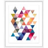 Found it at Joss & Main - Modern Triangles Framed Giclee Print