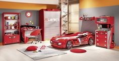 If your child is into racing, build them their very own racetrack in their bedroom. Design or buy a race car bed, add a spectator's platform, flags and set a track down on the floor. Great for any amateur racers!
