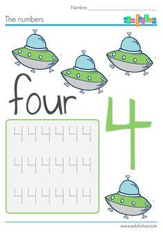 Fichas de actividades #sheets #fichas #numbers #learn #kids #worksheets #homework #preschool