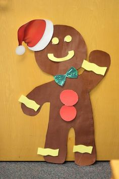 A life-sized Gingerbread Man with removable decorations (with velcro)!