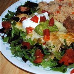 Enchanted Sour Cream Chicken Enchiladas Allrecipes.com