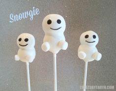 Snowgie congelado inspiró cake pops