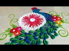 Best creative bird houses how to make 17 ideas Rangoli Colours, Colorful Rangoli Designs, Beautiful Rangoli Designs, Kolam Designs, Peacock Rangoli, Indian Rangoli, Diwali Rangoli, Peacock Design, Bird Design