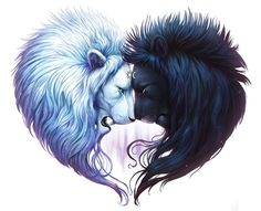 Ying yang lion hearts Love it! Ying yang lion hearts Love it! Fantasy Animal, Fantasy Art, Ying Yang, Bild Tattoos, Heart Painting, Painting Canvas, Artist Painting, Diy Painting, Canvas Prints