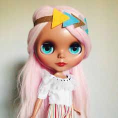 I've been playing with different looks for #cherrybeachsunset today #blythe #blythedoll