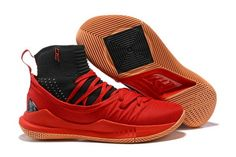 finest selection 80fc2 f5664 Genuine UA Curry 5 High Tops Red Black - Mysecretshoes
