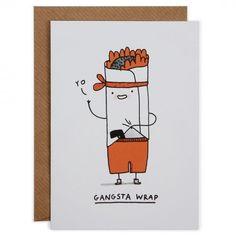 Gangsta wrap card