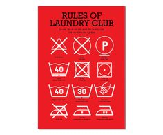 poster laundry club; westwing home & living