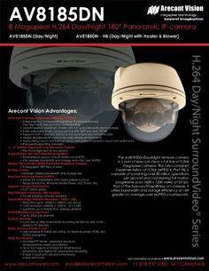 SurroundVideo AV8185DN Surveillance/Network Camera - Color, Monochrome by ARECONT VISION AV8185DN. $1399.00. Arecont Vision SurroundVideo AV8185DN Surveillance/Network Camera - Color, Monochrome AV8185DN 728