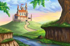 Castillo de la fantasía papel tapiz mural