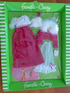 "Vintage Mattel Barbie - Francie ""Waltz in Velvet"" outfit MIB."
