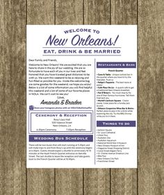 How to build an awesome wedding welcome bag wedding weekend bag welcome letter wedding itinerary wedding welcome bag hotel welcome letter welcome bag wedding letter new orleans new orleans wedding thecheapjerseys Image collections