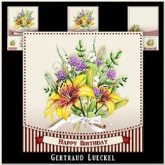 Watercolor Flower Bouquette 992 on Craftsuprint - View Now!