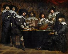 Le Nain Brothers - The Academy or A Meeting of Amateurs [c.1640]