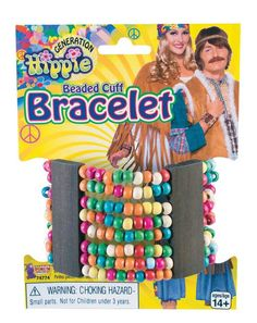Hippie Beaded Cuff Bracelet, Size: One size, Multicolor Hippie Fancy Dress Costume, Hippy Fancy Dress, Amazing Halloween Costumes, Celebrity Halloween Costumes, Decades Costumes, Hippie Bracelets, Ankle Bracelets, Beaded Cuff Bracelet, Tie Dye Patterns