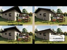 Kompetente Hausplanung für Ihr Holzfertigteilhaus, Kleingarten-, Einfamilien- und Ziegelmassivhaus, sowie Niedrigenergiehaus. Ing. Bianca Benedik Bungalow, Roof Styles, Detached House, Floor Layout, Homes, Lawn And Garden, Craftsman Bungalows, Bungalows