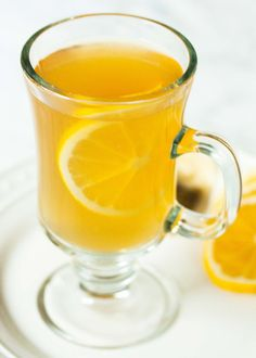 Hot toddy made with chamomile tea, honey, and whiskey. This nightcap will help you doze off in no time!