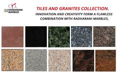 #Tiles and #Granites Collection.  Innovation and creativity form a flawless combination with RadhaRani #Marbles.