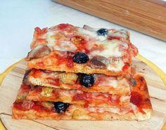 Impasto pizza sottile e friabile Pate A Pizza Fine, Pizza Recipes, Cooking Recipes, Focaccia Pizza, French Bread Pizza, Sugar Free Recipes, Pizza Dough, Snacks, Street Food