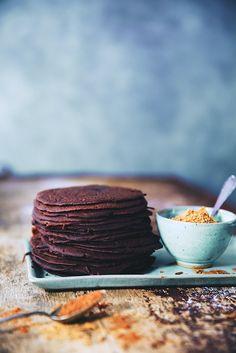 Saveurs Végétales: ► Mini crêpes de sarrasin au cacao & sucre à la canelle (gluten free)
