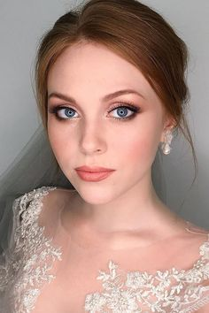 Ideas For Natural Bridal Makeup ❤ See more: http://www.weddingforward.com/natural-bridal-makeup/ #weddingforward #bride #bridal #wedding