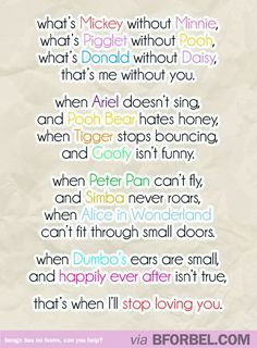 A Disney Love Poem For You…