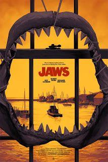 Jaws Movie Print Release By Phantom City Creative Jaws Film, Jaws Movie Poster, Best Movie Posters, Cool Posters, Film Movie, Jaws 2, Horror Movie Posters, Cinema Posters, Horror Movies