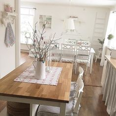 Shabby and Charming: White and gray for a nice Swedish home