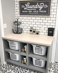 Mudroom Laundry Room, Laundry Room Shelves, Laundry Room Remodel, Farmhouse Laundry Room, Small Laundry Rooms, Laundry Room Organization, Laundry Room Design, Laundry In Bathroom, Laundry Area