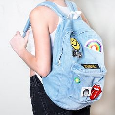 Bring back the '90s backpack: Remember that patch- and pin-covered backpack you had in the '90s? It's time to recreate it!