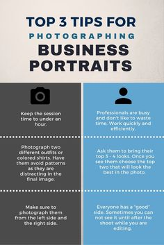 tops three tips for photographing business portraits. learn more at www.alexisarnoldphotography.com