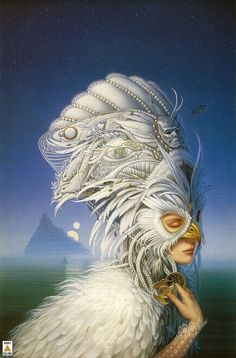 The Snow Queen - Michael Whelan. always loved this book cover.
