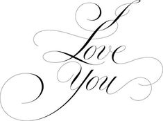 I Love You - Handlettering Copperplate Calligraphy, Calligraphy Words, Calligraphy Handwriting, Calligraphy Alphabet, Penmanship, Cursive, Creative Lettering, Lettering Design, I Love You Calligraphy