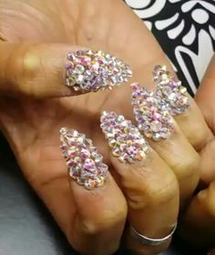 Rhinestone nails. April Harris · Rhinestone Nail Art · Japanese 3D ... 7f54709c89be