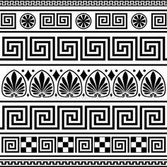 Set di ornamenti greco vettoriale — Illustrazione stock #5830031