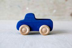 Blue Wooden Truck