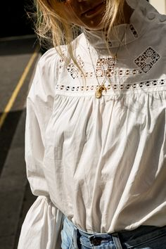 Competition Time with Free People | Fashion Me Now | Prettiest white vintage button up