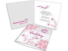 #Hochzeitseinladung Florale Elemente in Rosatönen Ornaments, Amp, Bunting Bag, Church Weddings, Card Wedding, Invitation Cards, Christmas Decorations, Ornament, Decor