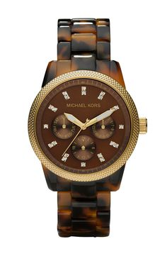 Michael Kors Jet Set Tortoise Watch.