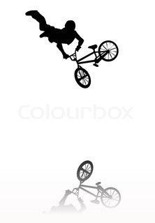 BMX silhouette.