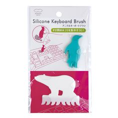 Critter Keyboard Brushes Penguin + Bear from Marna. Cute critters to keep your keyboard clean.