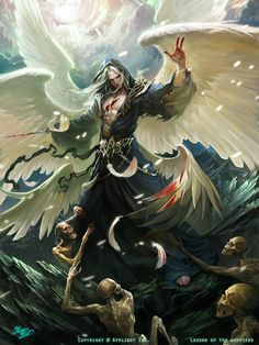 Lucifer- beautiful art work... Good too keep in mind that this guy is very real and very powerful and very very evil. Thank goodness that the name of Jesus can defeat him no matter how powerful he thinks he is!