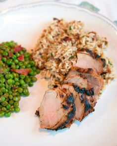 Orange Dijon Pork Tenderloin - 5 ingredients + 5 minutes, and you'll be well on your way to this delicious citrusy yumminess for dinner.  This was a big hit here, and it worked equally well on some grilled chicken breasts.  YUM!