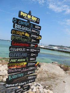 Sign At Famous Lake Erie Island Of Put In Bay Ohio