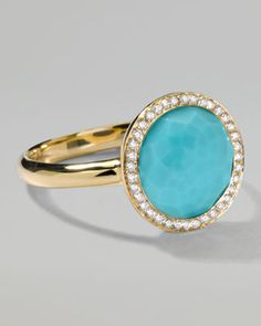 Rock Candy Mini Lollipop Diamond Turquoise Ring by Ippolita at Neiman Marcus.
