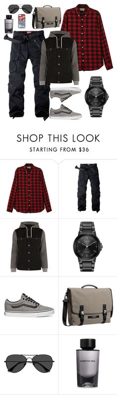 """""""Sport casual for skier in the city"""" by rhinapoetica on Polyvore featuring MANGO MAN, River Island, Citizen, Vans, Timbuk2, EyeBuyDirect.com, Kenneth Cole, Dsquared2, men's fashion and menswear"""